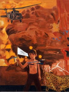 "Warrior   2008   Oil on Canvas   24"" x 18"""