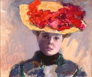 Girl in Straw Hat (Femme au Chapeau Rouge)