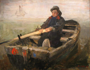 James Ensor, The Rower, 1883, KMSKA, Antwerp
