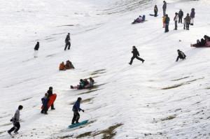 sledding feature