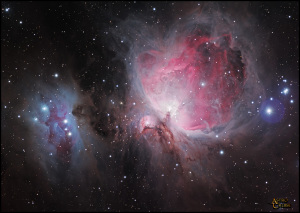M42 Orion Nebula, M43, and NGC 1977 complex