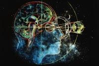 CUTAWAY VIEW OF MAN'S HEAD & EARTH