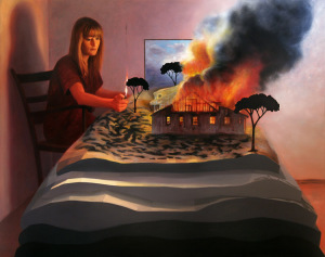 Set on fire. 228x180cm. Oil on canvas (2009)