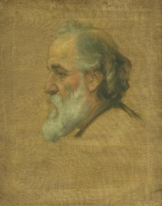 Sketch of Alphonse Legros by Sir Charles Holroyd 1861-1917