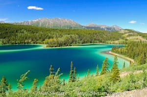 Emerald Lake in the Candian Yukon