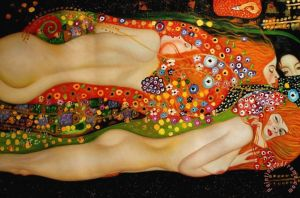Sea Serpents Ii Painting by Gustav Klimt; Sea Serpents Ii Art Print for sale