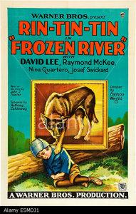 FROZEN RIVER, poster art, from left: Davey Lee, Rin Tin Tin, 1929