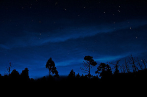 Night Falls at Jialuo Hu