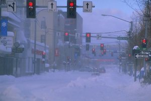 Main Street Fairbanks in Winter