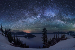 Magnificent Milky Way Over Crater Lake